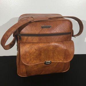 Vintage Samsonite Cognac Leather Travel Bag